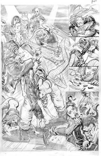 Doll and Creature penciled page